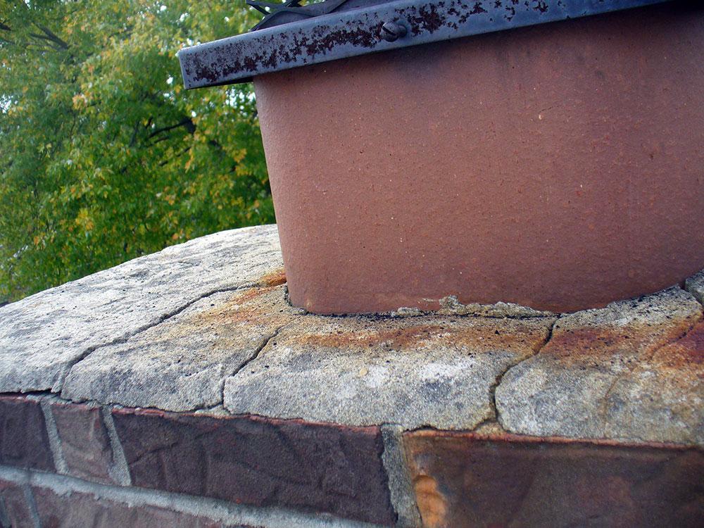 Crown Chimney Leaks : Trowelable crown repair chimney rx