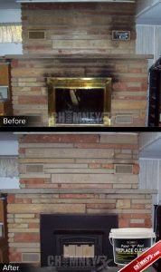 03 Stone Block Fireplace Smoke Stains Before After Paint N